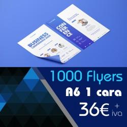 1000 Flyers A6 1 cara